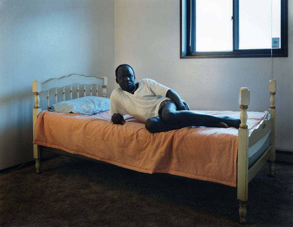 Peter Dut - eldest of three brothers of the Lost Boys of the Sudan who ended up in Fargo, ND in sub-zero temperatures - February, 2001 for the The New York Times Magazine