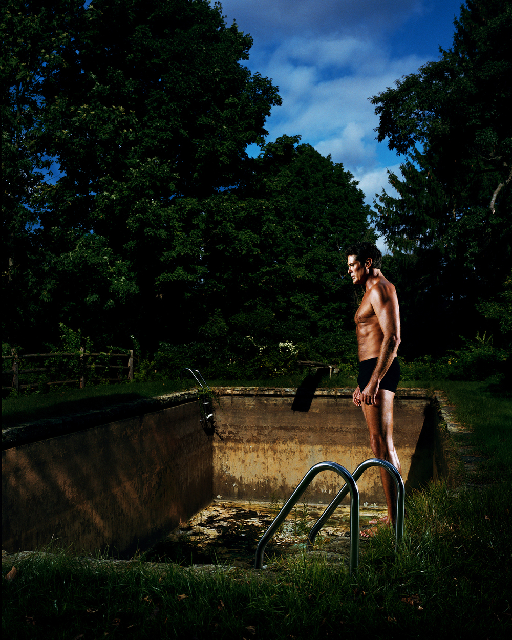 """David Hasselhoff as """"The Swimmer""""- New Canaan, CT"""