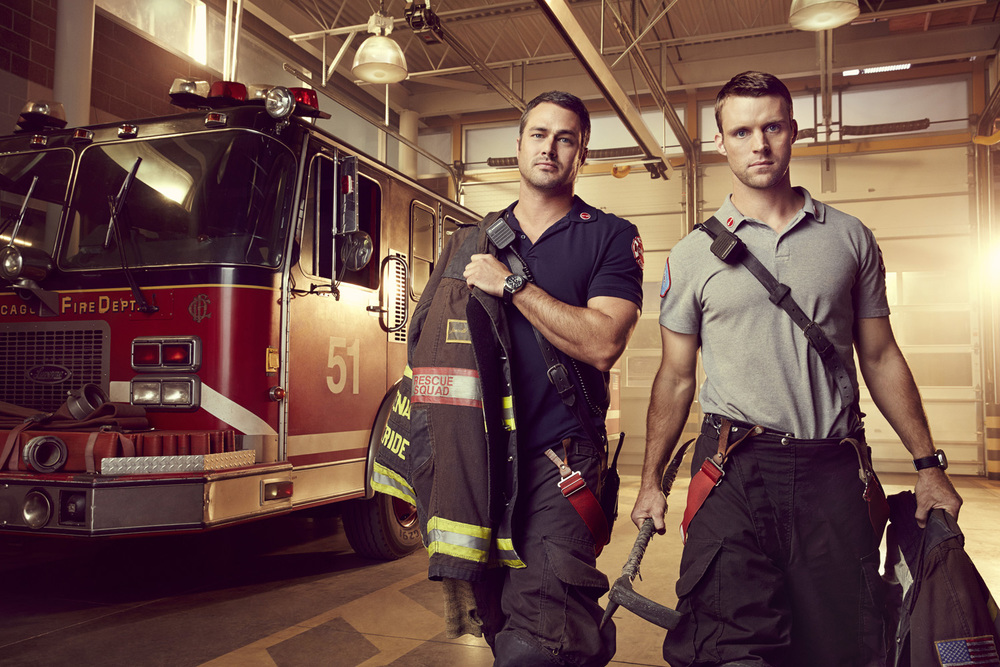 Chicago Fire - Taylor Kinney and Jesse Spencer - Chicago, Il
