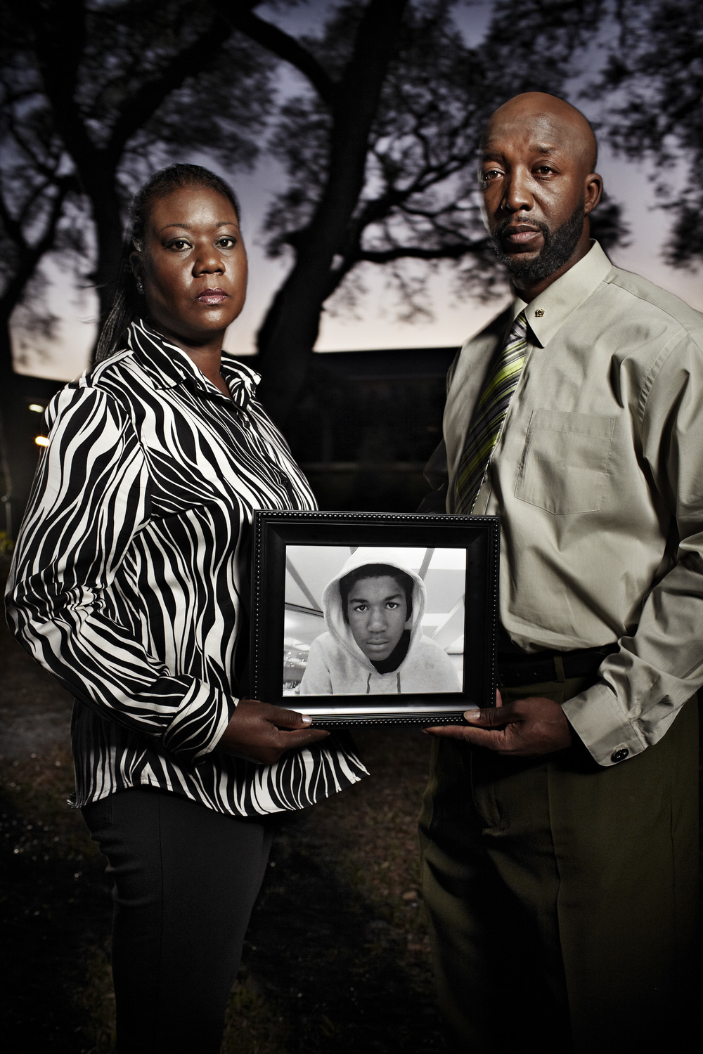Sybrina Fulton and Tracy Martin - parents of Trayvon Martin - Sanford, FL