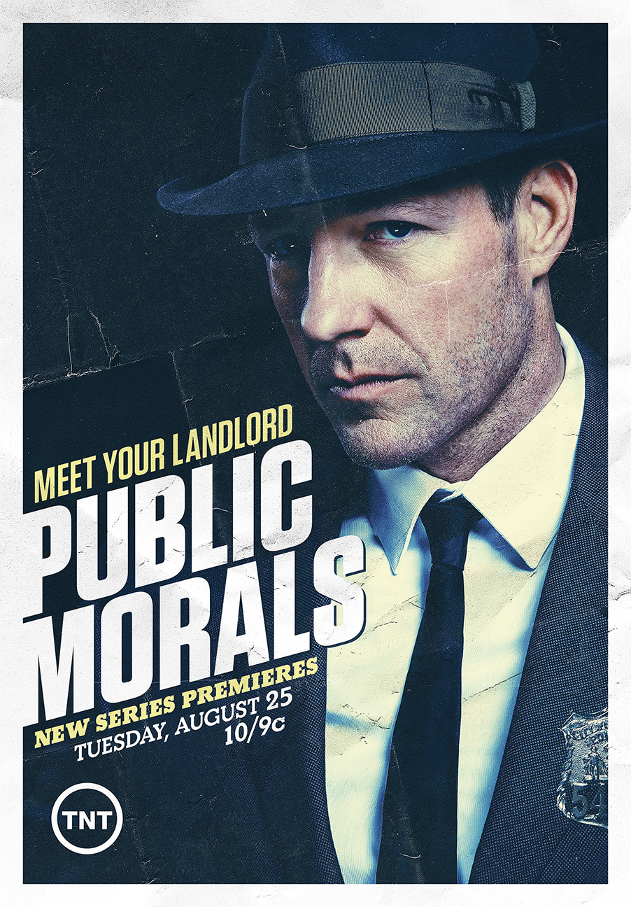 Edward Norton for TNT's Public Morals - New York City
