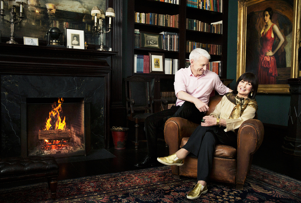 Anderson Cooper with mother Gloria Vanderbilt - New York CIty