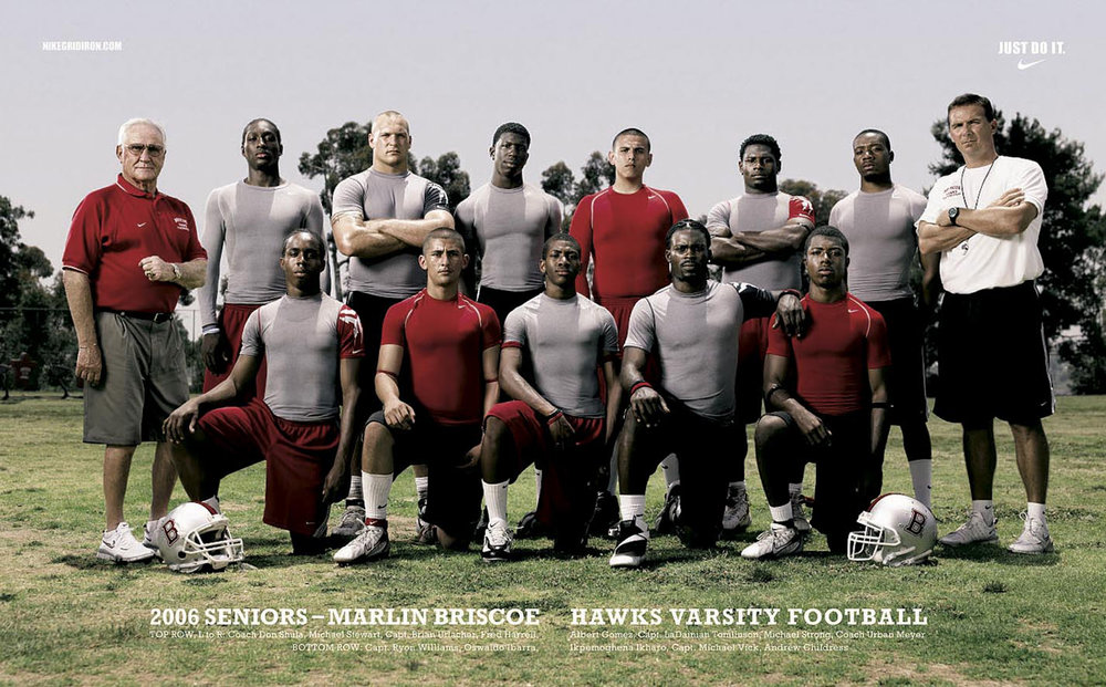 Coach Don Shula and NFL All-Stars for Nike - Los Angeles, CA