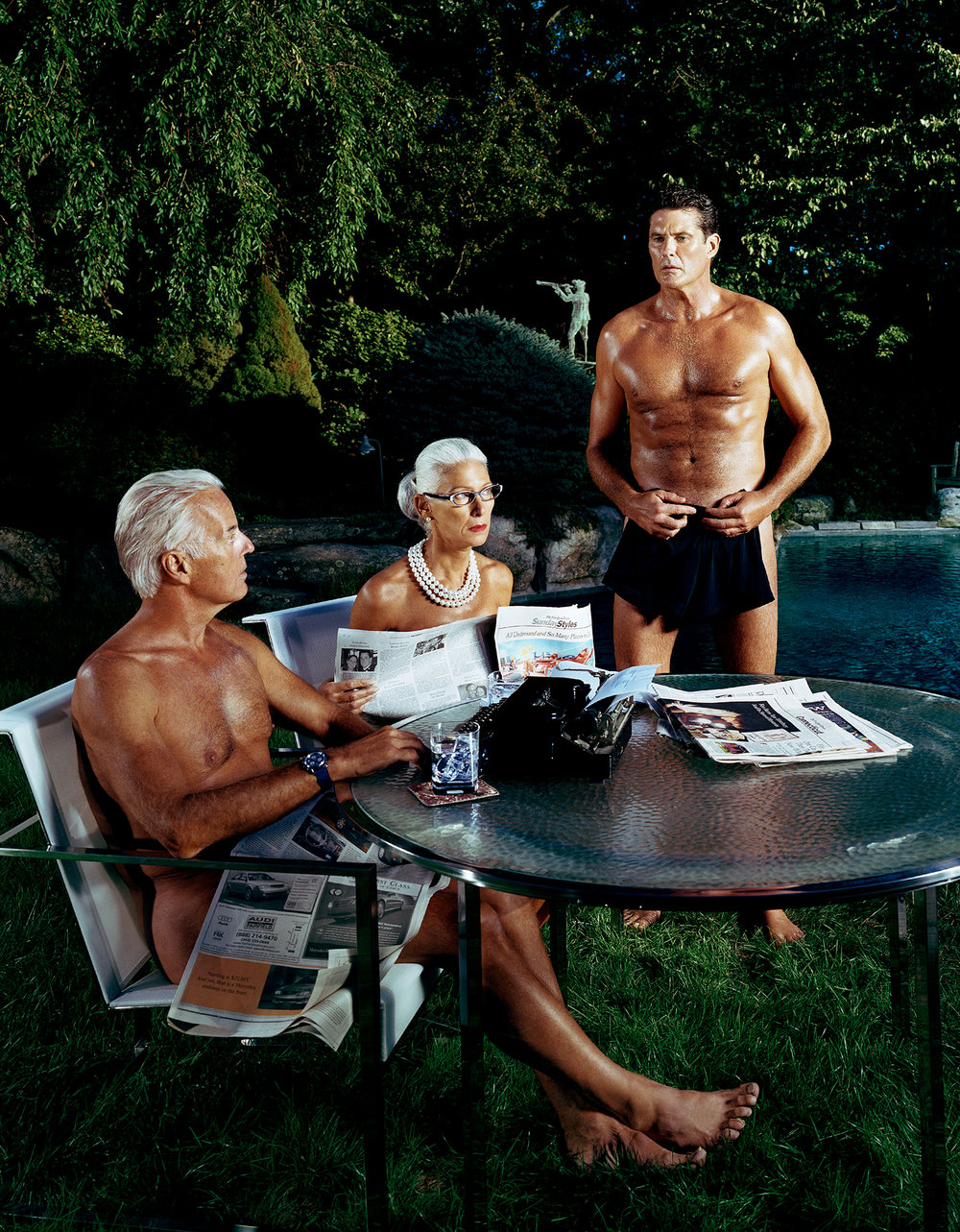 """David Hasselhoff as """"The Swimmer"""" - New Canaan, CT"""