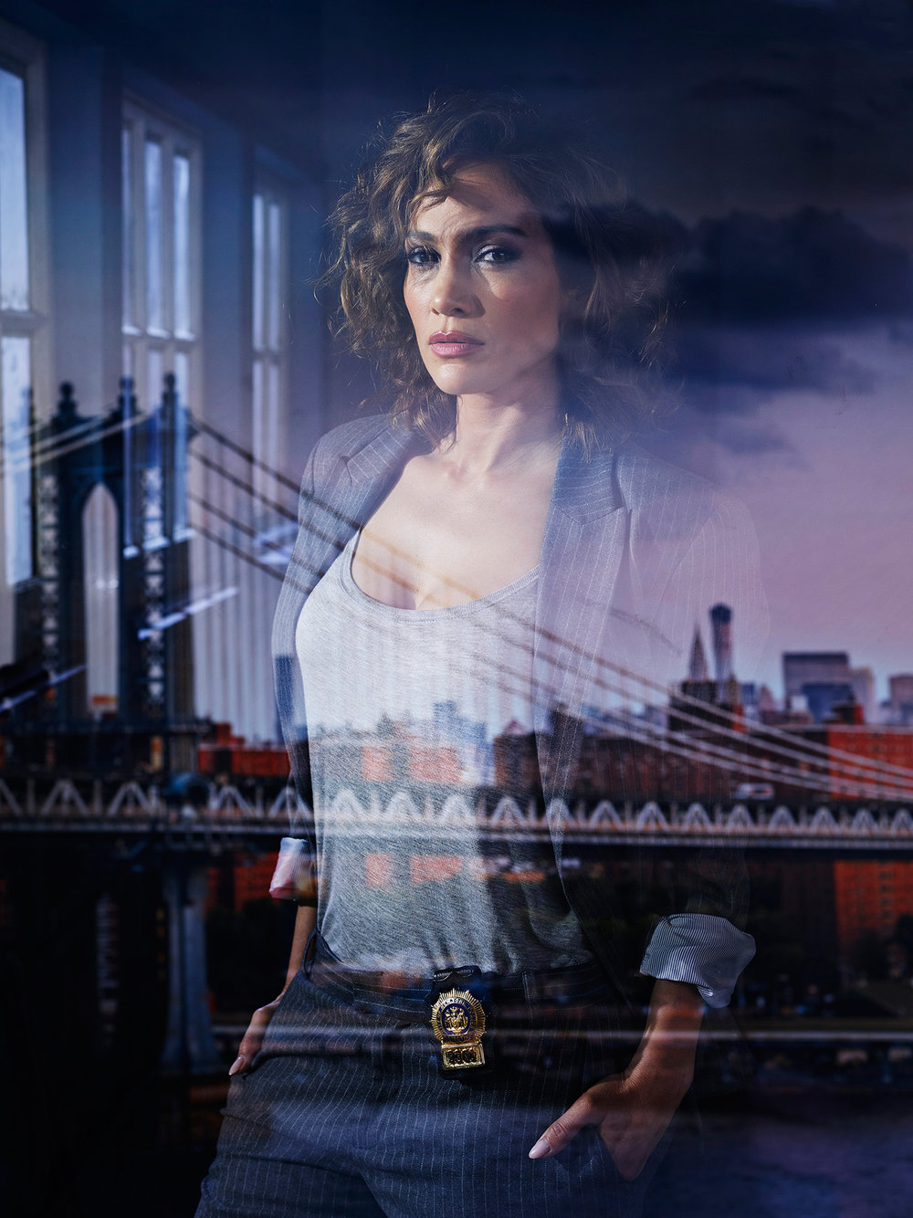 Jennifer Lopez for NBC's Shades of Blue - New York City