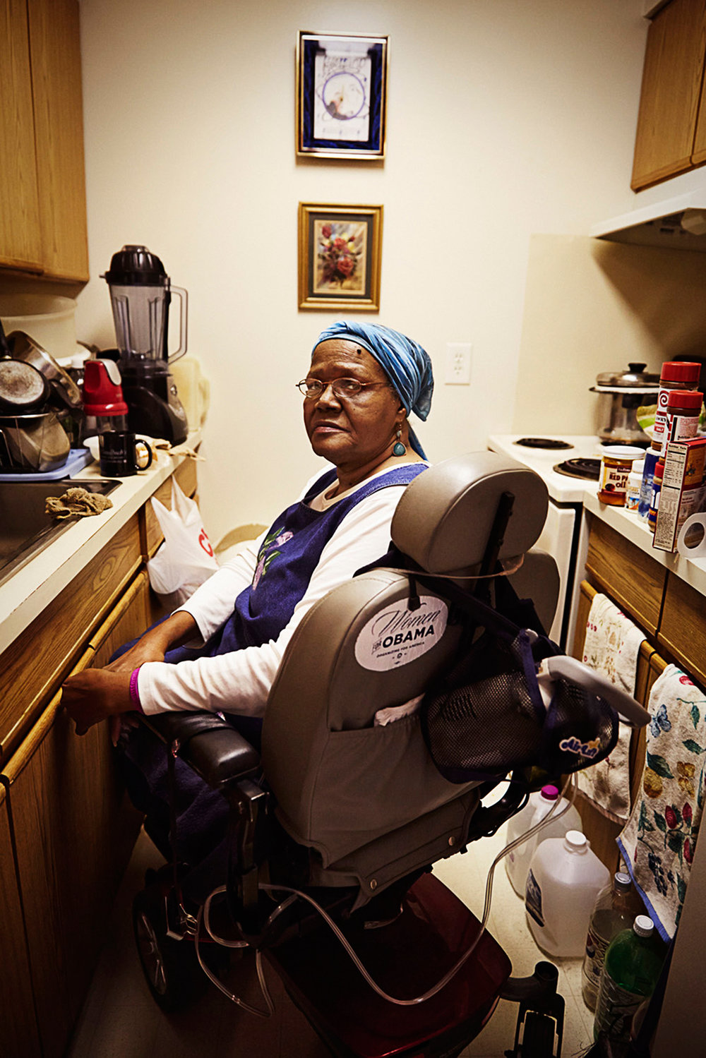 In 2014 President Obama signed into law a bill that would cut $8 billion from the Supplemental Nutrition Assistance Program (SNAP) over 10 years.    Willie Smith pictured at her home in subsidized senior housing in Detroit, MI. She saw her meager amount of benefits of $73 per month immediately reduced by 20%.