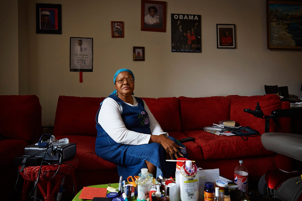 Willie Smith of Detroit, MI saw her SNAP benefits reduced to the paltry amount of $53 per month immediately after the announcement of Obama's legislative cuts. Her SNAP benefits last less than a week.