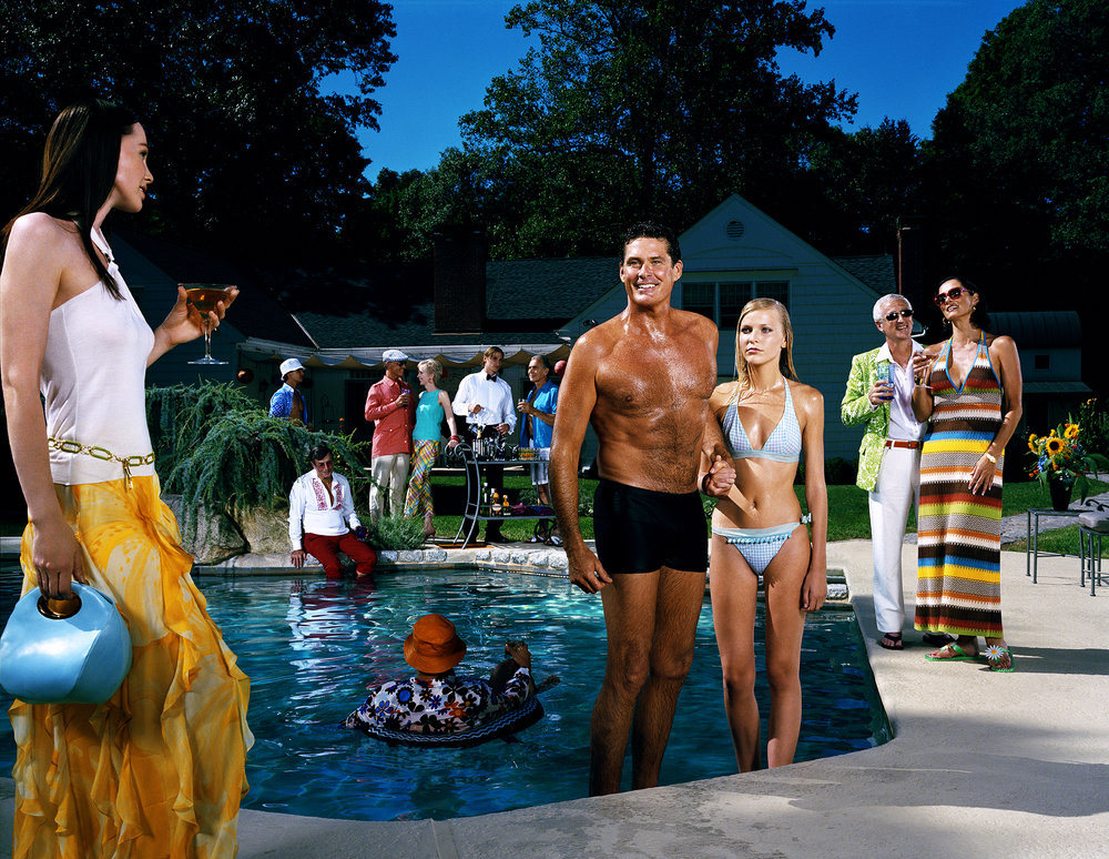 "David Hasselhoff as ""The Swimmer"" - New Canaan, CT"