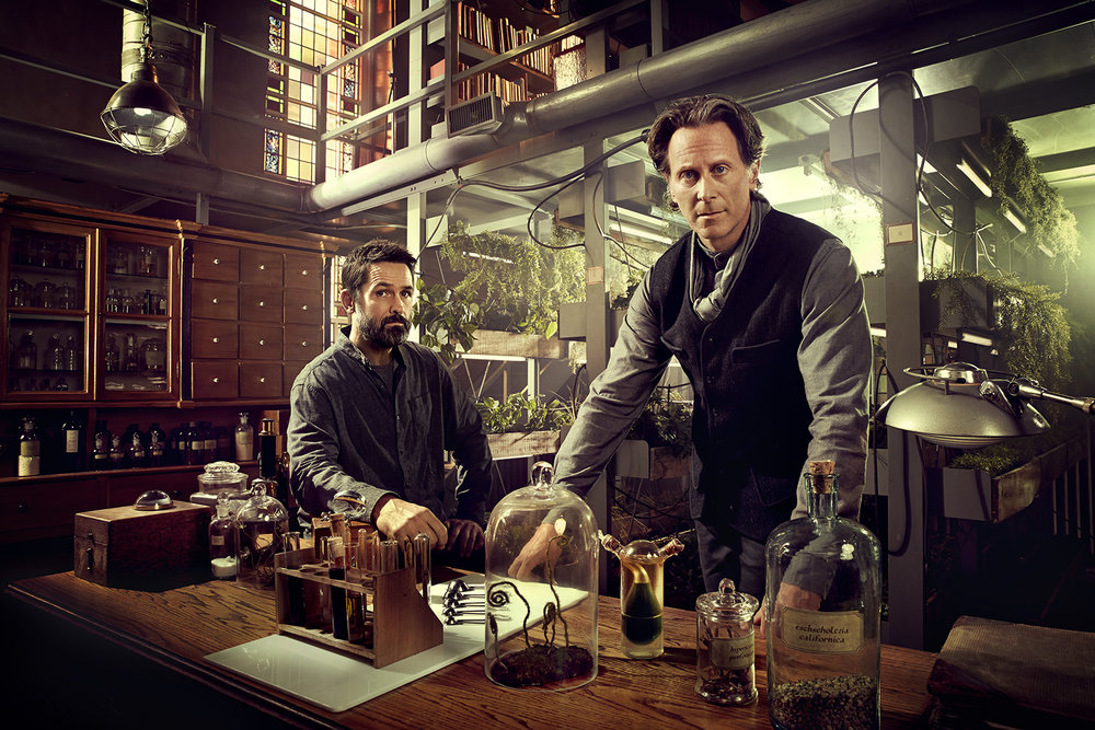SyFy - Billy Campbell and Steven Weber in Helix - Montreal, Canada