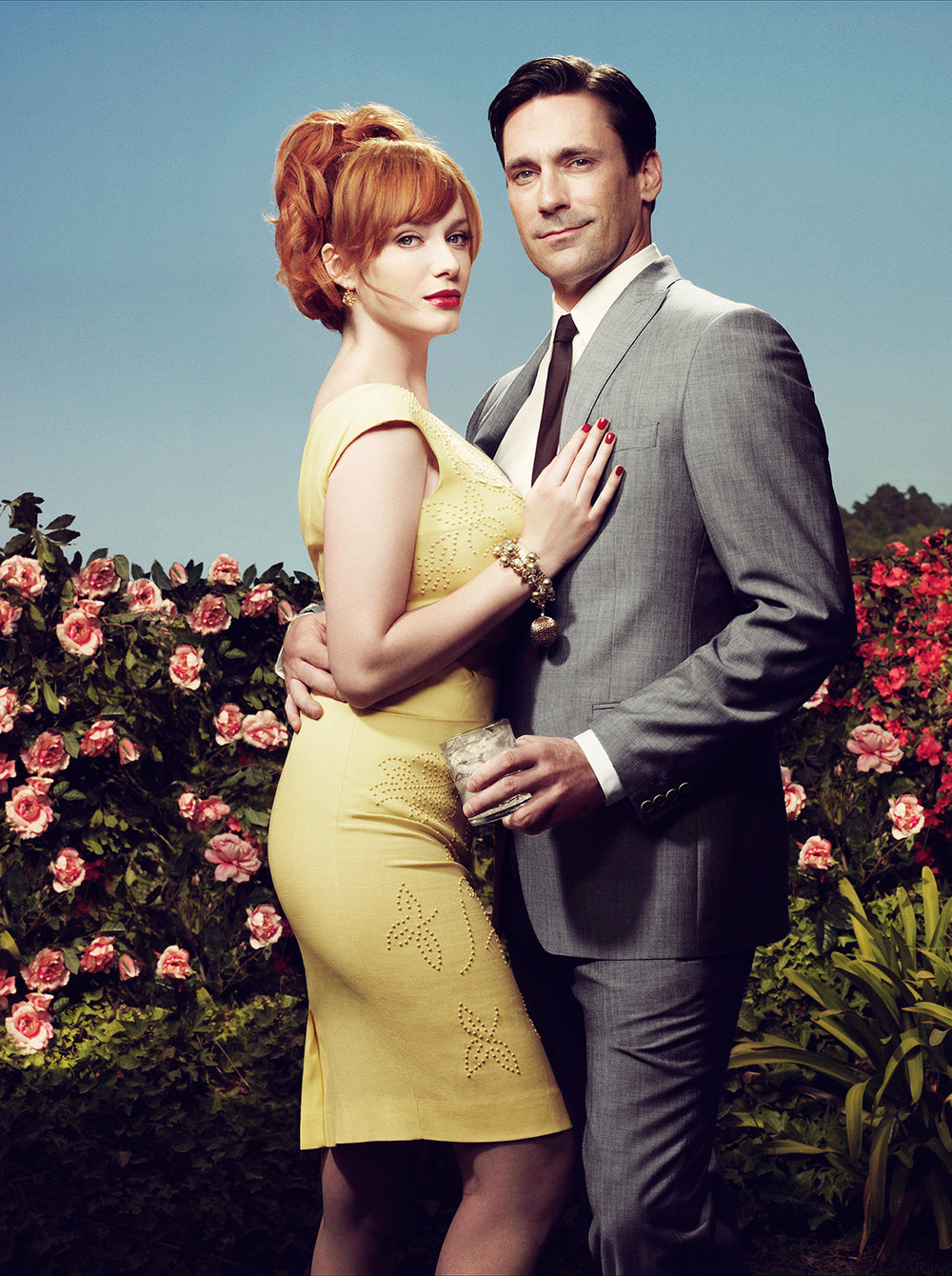 Christina Hendricks and Jon Hamm - Los Angeles, CA