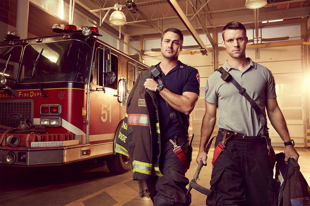 Taylor Kinney and Jesse Spencer of Chicago FIre - Chicago, IL