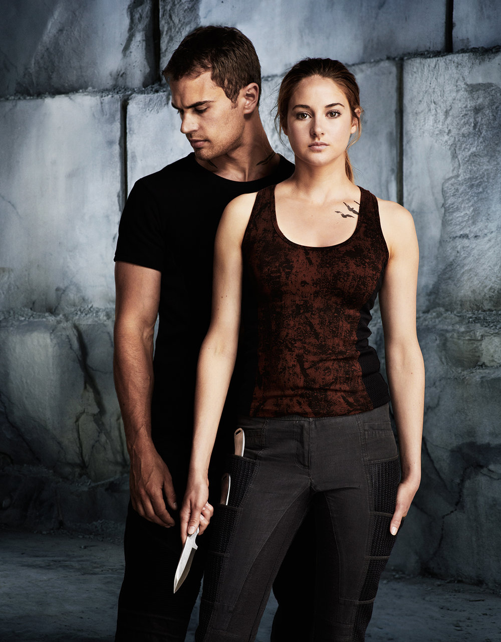 Theo James and Shailene Woodley - Chicago, IL