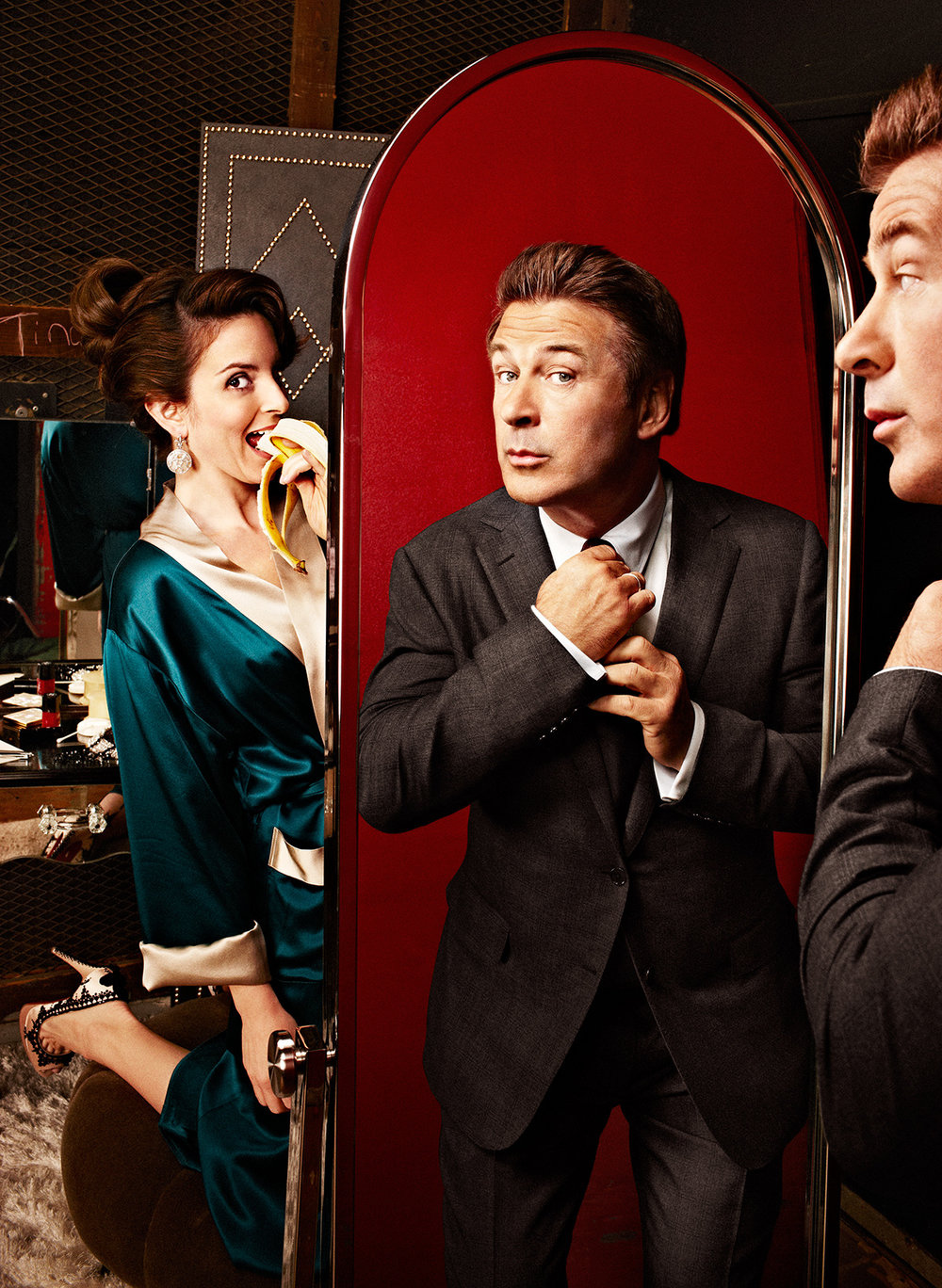 Alec Baldwin and Tina Fey - New York City