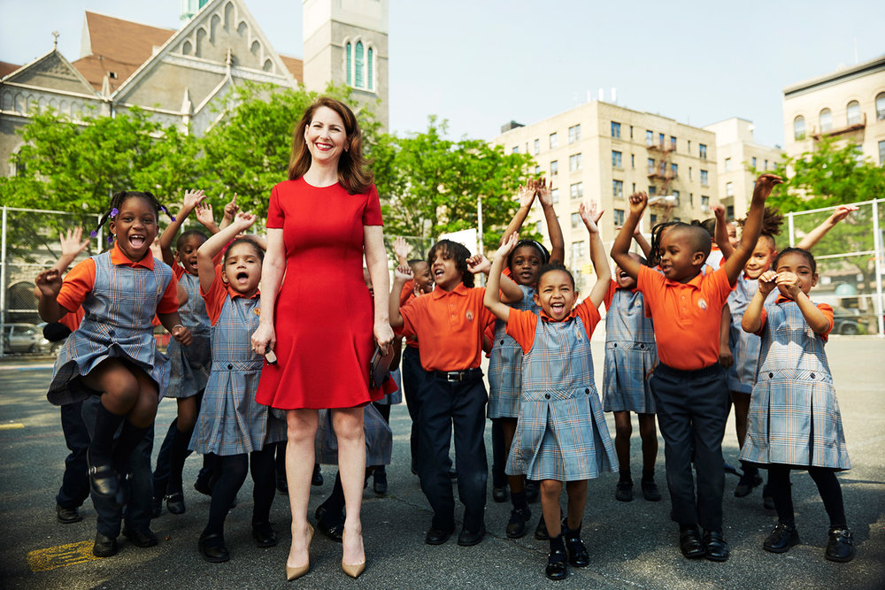 Eva Moskowitz -the founder and CEO of Success Academies Charter School Network - Harlem, New York City