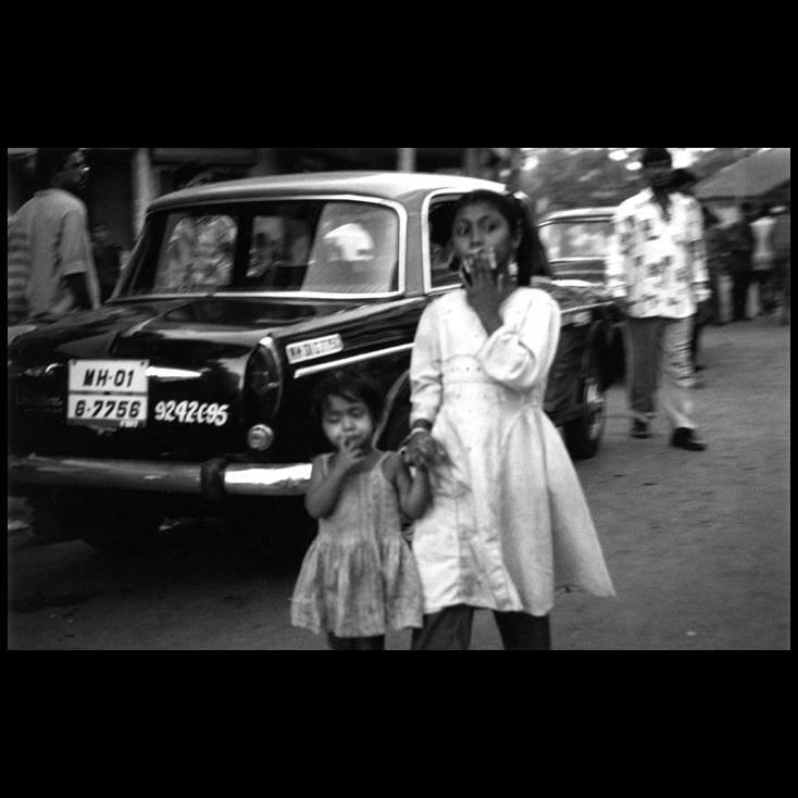 Polaroid - Street Beggars - Mumbai, India