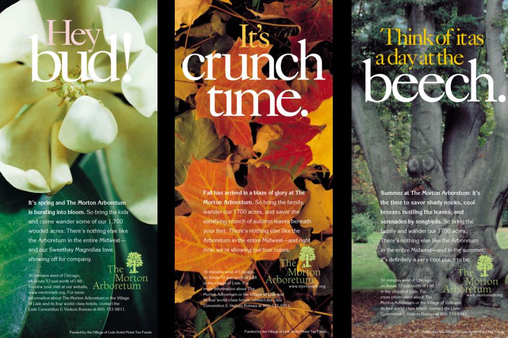 Morton Arboretum Seasonal Print Ads
