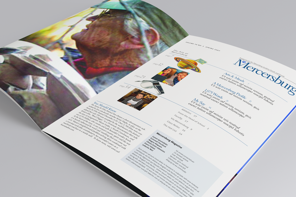 Mercersburg Academy Alumni Magazine Prototype