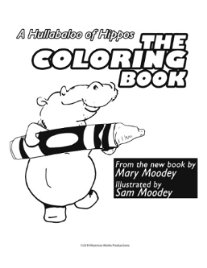 """Choice A: The Hippo Coloring Book A collection of illustrations from A Hullabaloo of Hippos 8.5""""x10"""""""