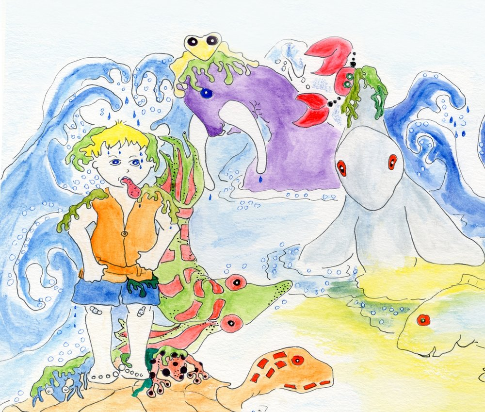 From A Hero at Three; illustration by Cindra Vallone