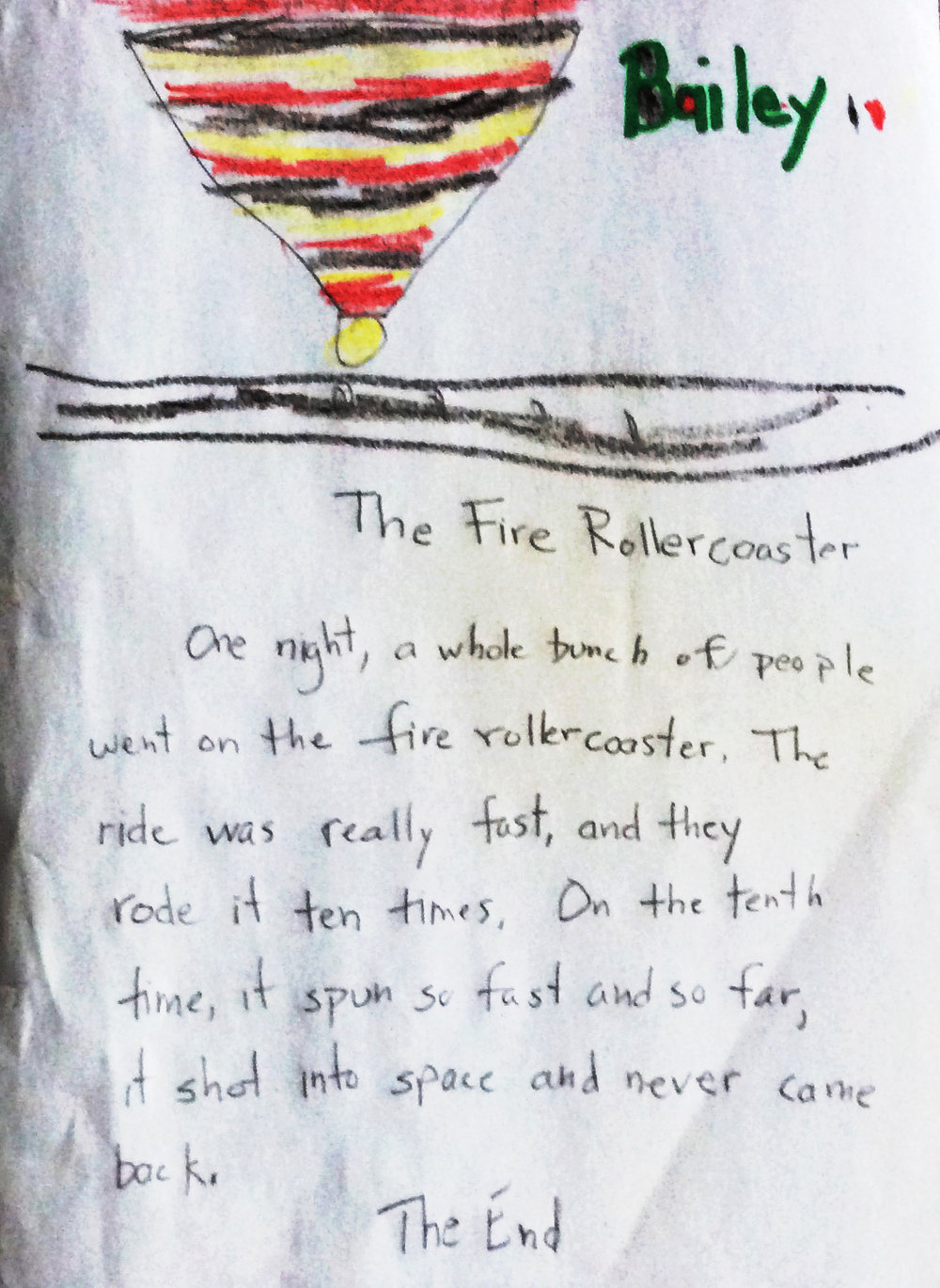 """The Fire Roller Coaster"" by Bailey"