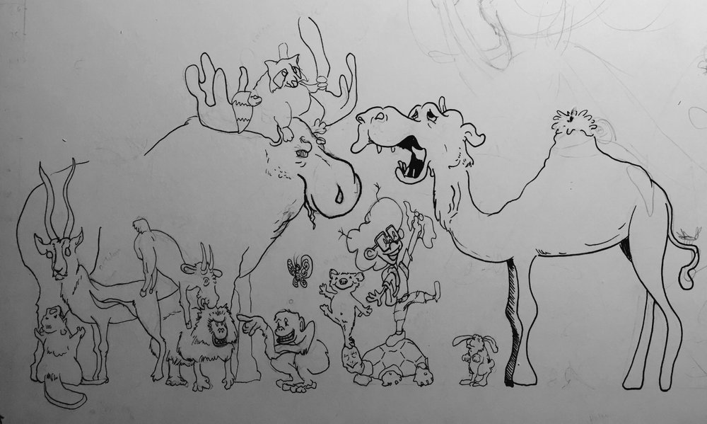 camel-early sketch-animals.jpeg