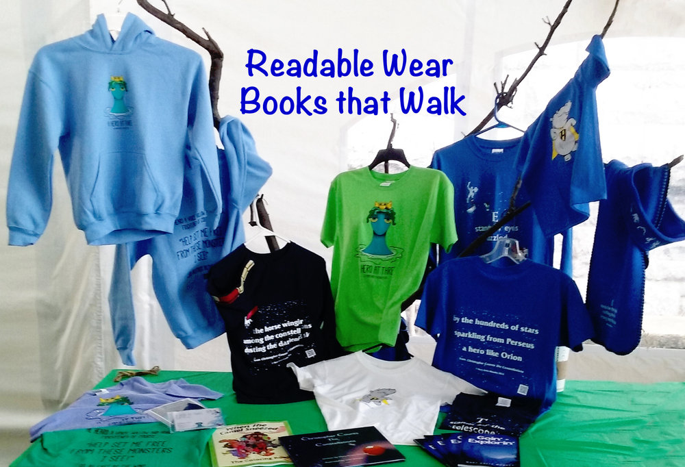 Display of Books on Clothes at the Erie Irish festival, 2016