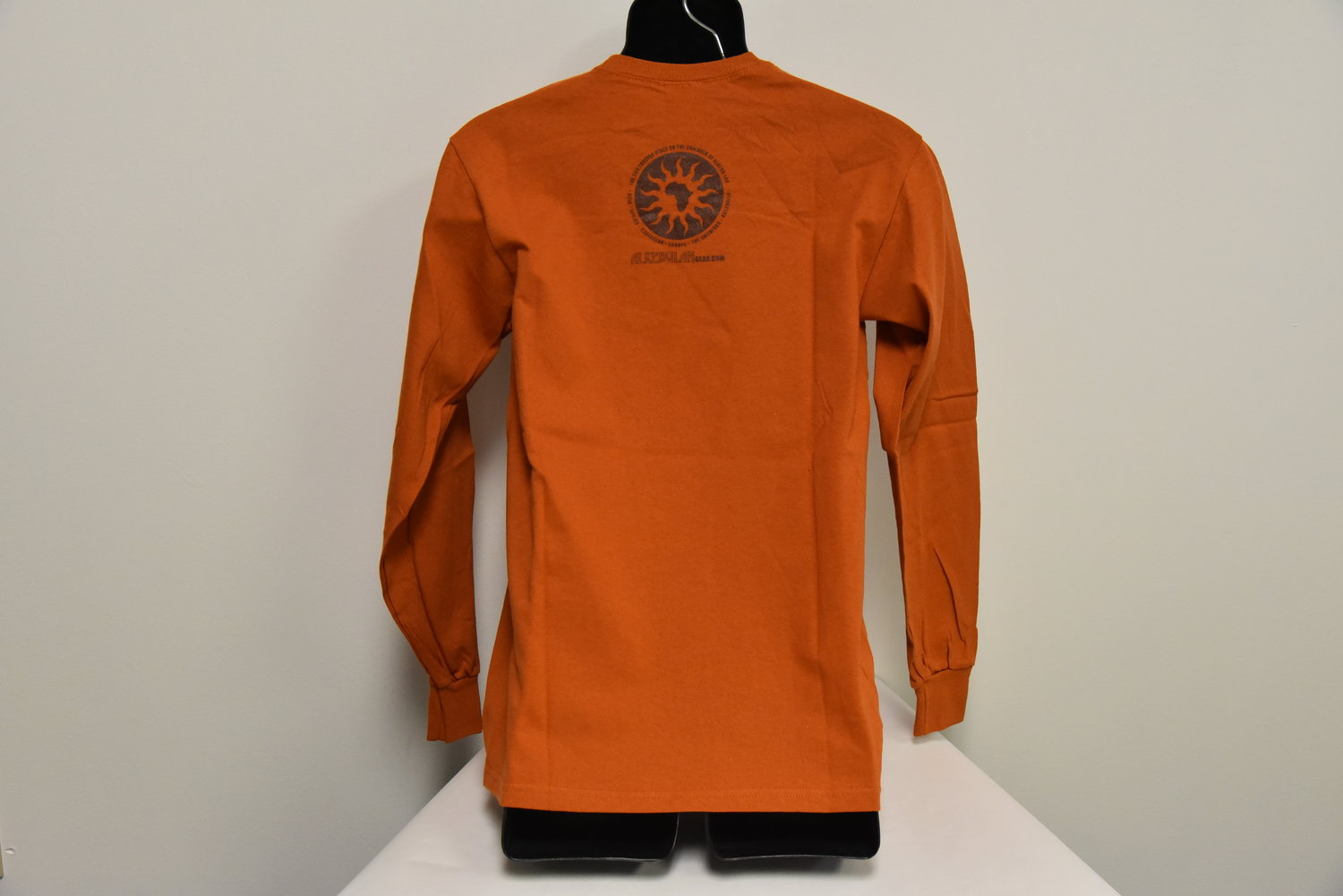 men s brown longsleeve t shirt with yellow map ujamaa collective