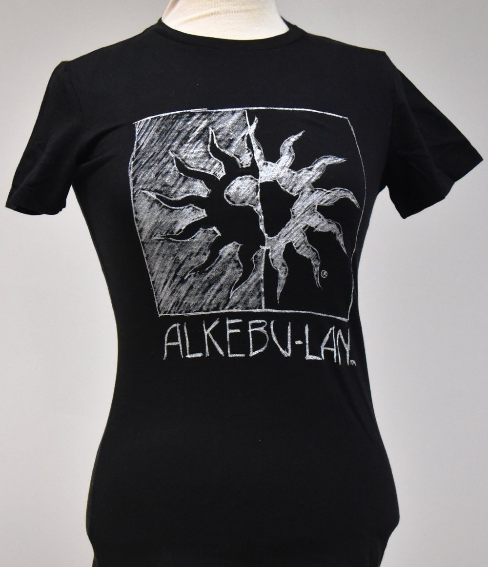 Women s Black T-Shirt with White Sun — Ujamaa Collective 942f0baf1
