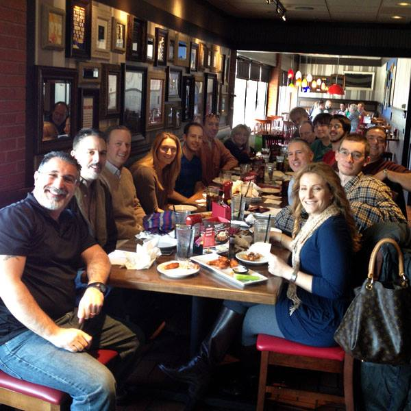 The eGifter team celebrates at TGI Fridays--one of our favorite brand partners!
