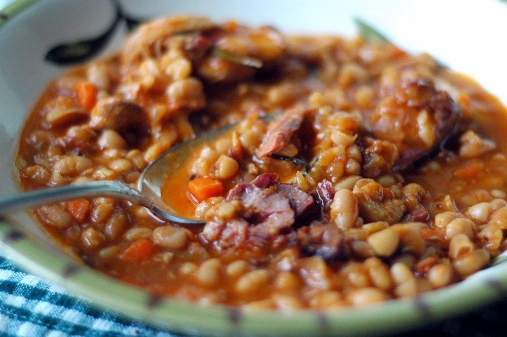 Pork sausage cassoulet recipe