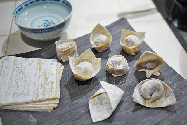 Here are different ways you can wrap your won ton.