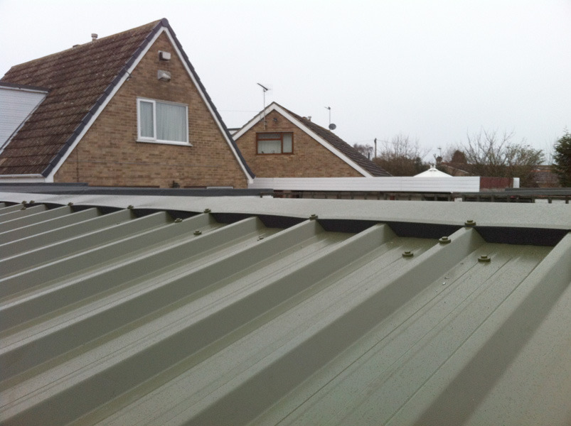 Corrugated Roof installed by West Design and Build of Hedon 01.jpg