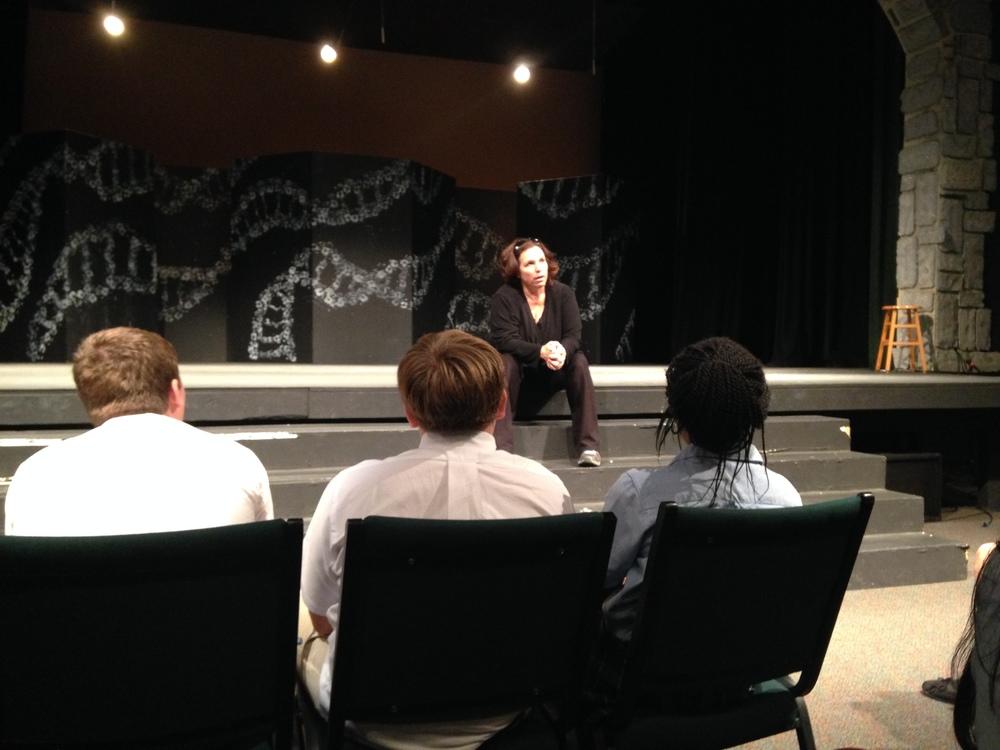 Alice speaks to students at Glenelg Country School.