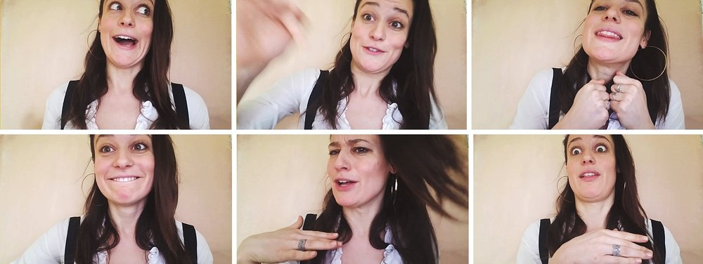 *I promise I won't make silly collages of embarrassing video still faces from any video I make for you...promise. As for my own videos....well I just can't resist.