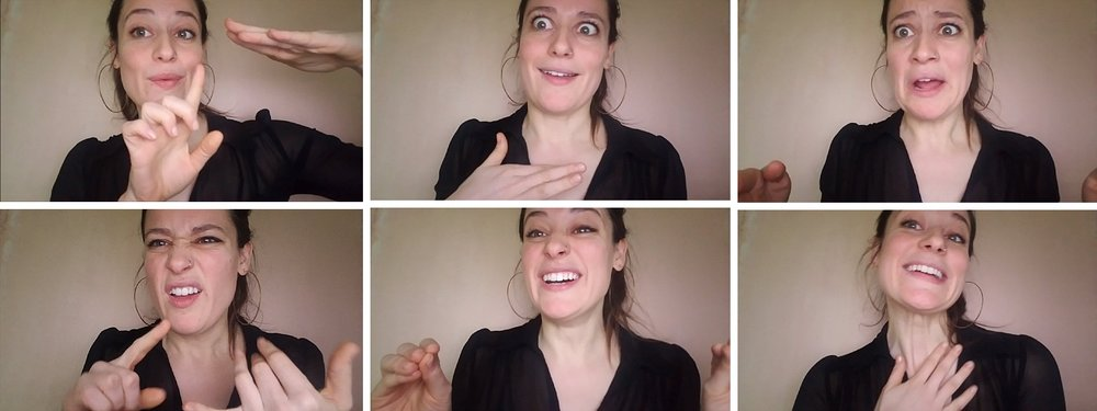As always, here are my favorite crazy-face screen grabs from my VLOG. haha! **Just to be clear, I never do this to my clients (unless requested).