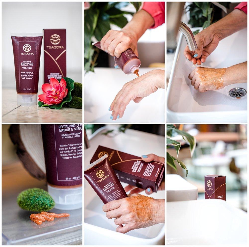 chamonix films - seattle product photographer commercial photography videography - teadora beauty skincare sugar scrub