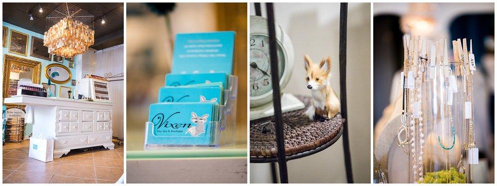 Chamonix Films - Vixen Day Spa & Boutique - Seattle Fashion Videography Brand Films - Gift Cards Decor - Chandeliers Gold