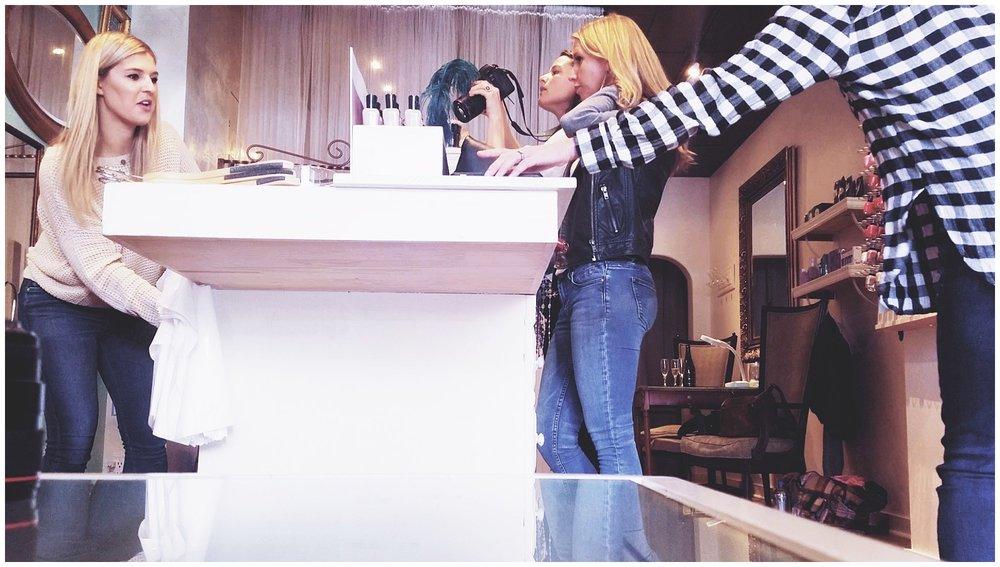 Chamonix Films - Vixen Day Spa & Boutique - Seattle Fashion Videography Brand Films - Behind the Scenes Photo Shoot