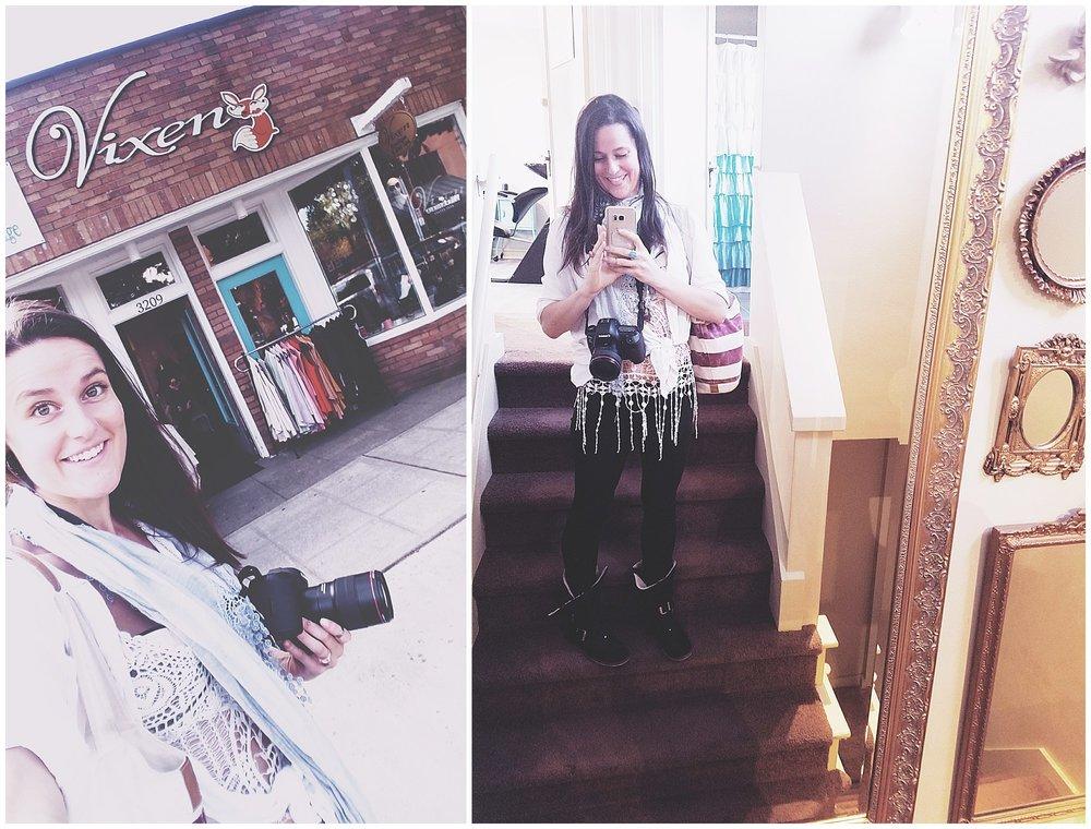 Chamonix Films - Vixen Day Spa & Boutique - Seattle Fashion Videography Brand Films Mirror Wall Self Portrait