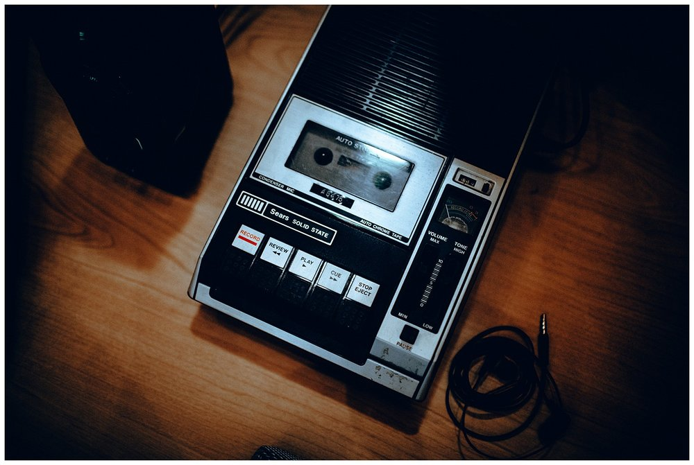 Chamonix Films - Seattle Music Videographer - Music Photography - vintage tape player equipment