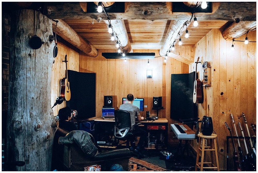 Chamonix Films - Seattle Music Videographer - Music Photography - cabin recording studio log