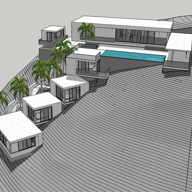Construction is coming along on this retreat in Mexico. Main house, villas, a pool, and quite a view! ———————————————— #davisurban  #davisurbanarchitecture  #architecture  #renderings  #underconstruction  #modern  #Mexico