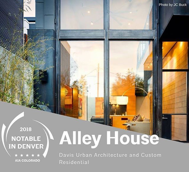 We attended the AIA Colorado Awards Gala on Friday night. Davis Urban is honored to receive an award for Notable in Denver for our Alley House project. Check out more images of this project on our website. —————————————————— #davisurban  #aiacolorado #alleyhouse  #architecture  #Denver #davisurbanarchitecture #notableindenver2018