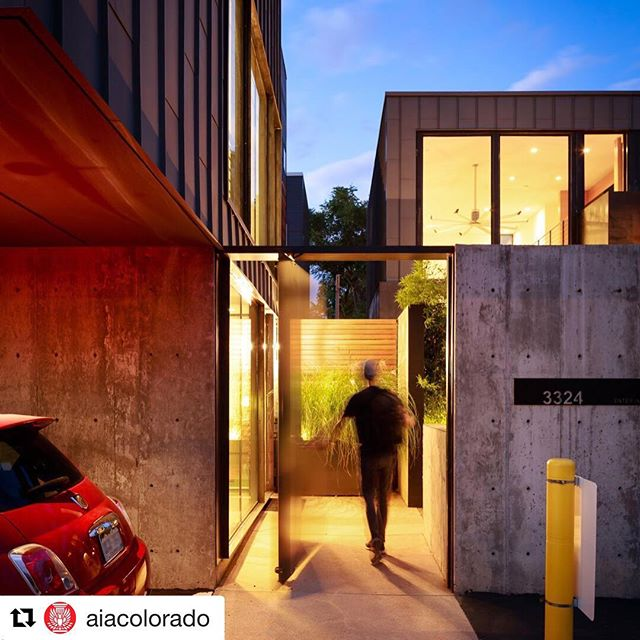 Thanks again to @aiacolorado. What an honor to have this project named among the best in Denver! ————————————————— #davisurbanarchitecture  #NotableInDenver  #modern  #alleyhouse  #Repost @aiacolorado with @get_repost ・・・ Alley House by @davisurbanarchitecture is, you guessed it--in an alley! This home was designed to be a comfortable and warm city space that features raw building elements like concrete and custom steel. It has both a main residence and guest house, separated by a courtyard that's complete with a plunge pool, fire pit, bamboo hedge and a view into the home owners prized auto collection. It was recognized with a 2018 Notable in Denver award.  Photo by JC Buck. #aiadesignawards #colorado #architectlife #architecturedesign #architecture #design #designawards #architecturephotography #architecturelovers #architectureporn #historyfacts #denver #aia #residentialarchitecture #customhomes #customehomedesign #homeofyourdreams #archrecord #archrecordmag #archdaiily #archinspirations #modernhomedesign #denver #notableindenver2018