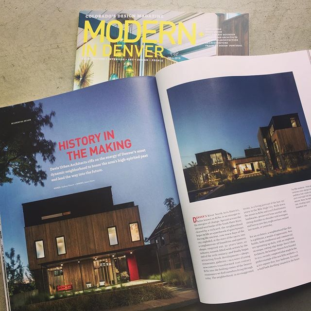 Davis Urban's RiNo Residence project is featured in the new, fall issue of Modern in Denver magazine. Pick up a copy today and take a look at the article on page 120! ———————————— @modernindenver @jamesfloriophotography #davisurban  #RiNo  #davisurbanarchitecture  #modernliving  #modernindenver  #architecture  #homegoals