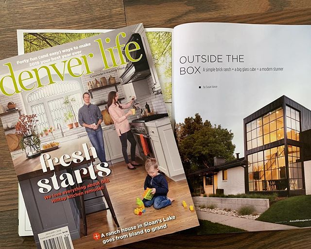 Big shout out to Denver Life magazine for the great article on the Black and White House in Sloan's Lake. Pick up a copy and check out how we worked with the homeowners to design this stunning home.  #davisurban  #architecture  #sloanslake  #homegoals  #denver  #modern