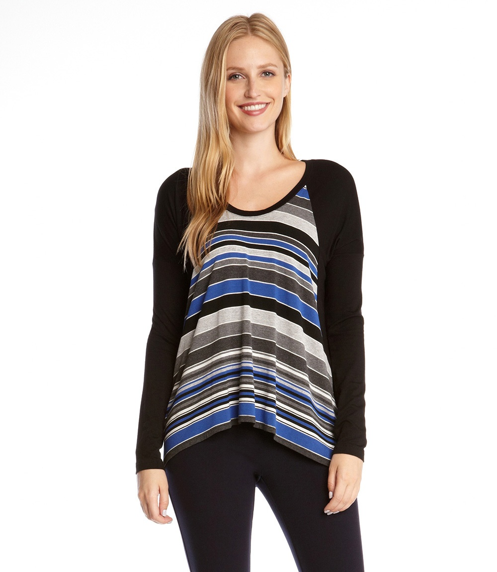 We love this stripped top by Karen Kane!