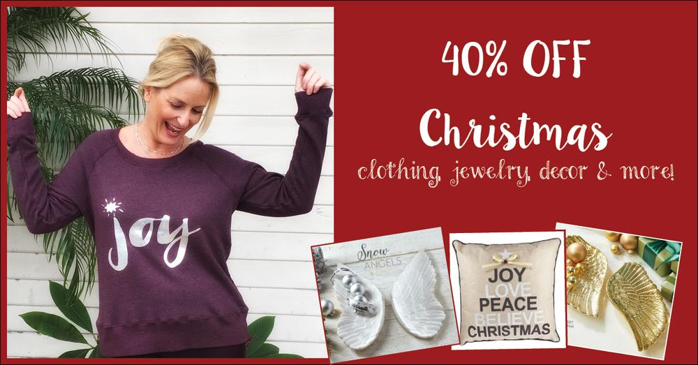 40% off Christmas