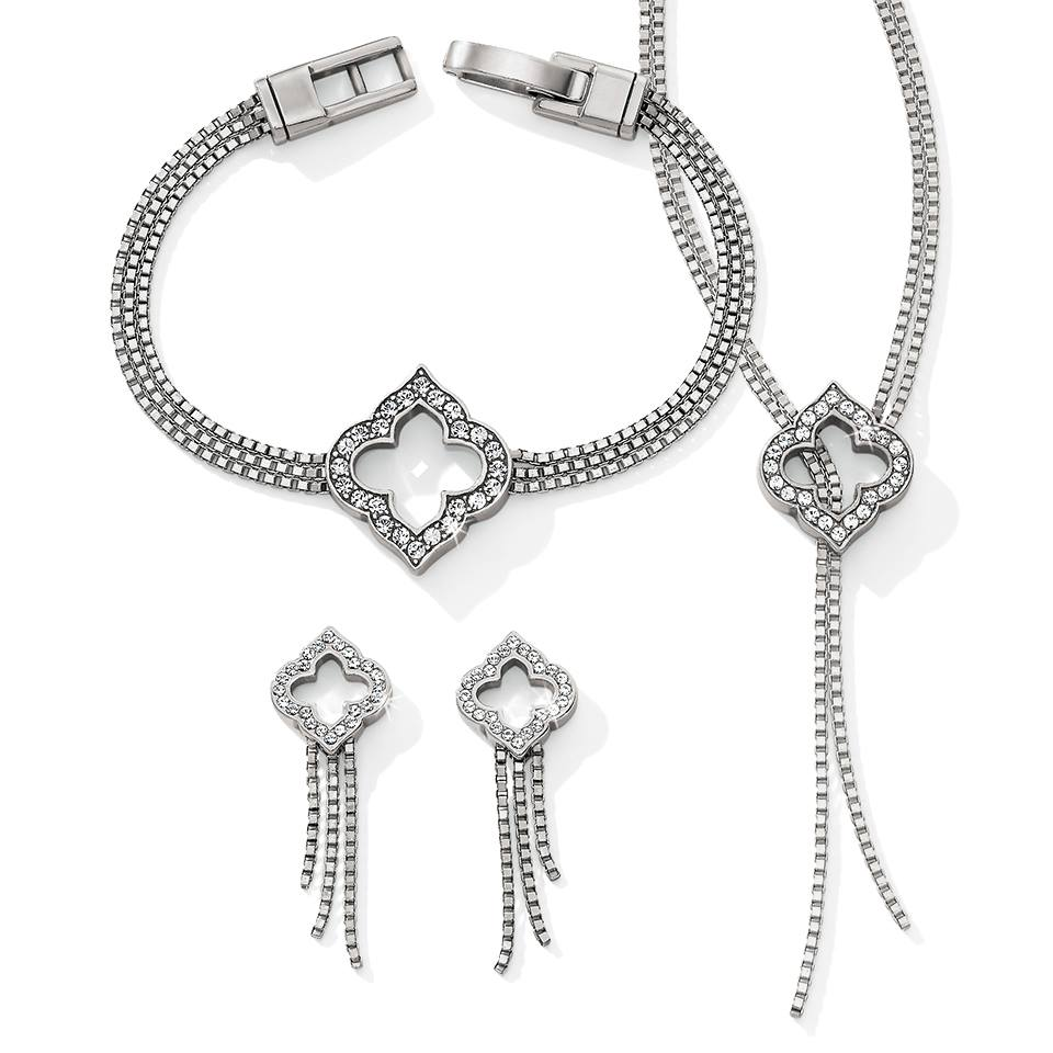 Toledo falls is another brand new addition to a classic Brighton collection. The designer has combined classic crystal-embellished arabesques and graceful silver chains to create a collection that is truly gift-worthy.