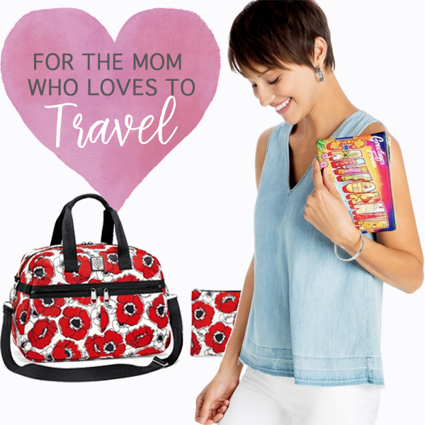 Travel Mom - Regardless if your mom travels for work or for play, she is going to love Brighton's travel accessories. They are light weight, durable, easy to clean, and they come in lots of cute patterns.